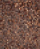 Alfombra de piel natural ''Toscana'' color natural chocolate 170 x 240